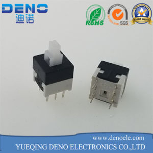 Double Row Self Locking Switch 6 Pin Key Pressure Switch pictures & photos