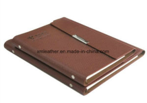Business 3 Fold PU Leather Notebook Organizer pictures & photos