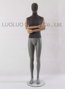 New Linen Wrapped Male Mannequin with Wooden Arms 4502 pictures & photos