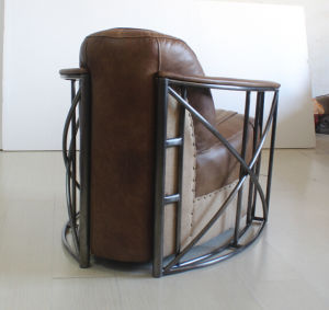 Stainless Steel Tube Armrest Living Room Chair, Industral Style Chair Yh-313 pictures & photos