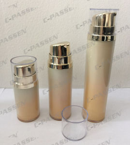 Hot Sale Orange Acrylic Airless Lotion Bottle for Cosmetic Packaging (PPC-AAB-036) pictures & photos
