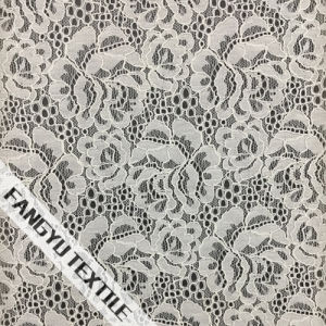 Noble White Flower Lace Fabric for Dress