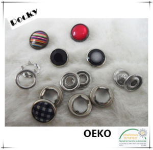4-Part Buttons Double Cap Prong Snap Buttons for Garment pictures & photos