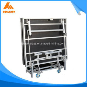 Aluminum Foldable 410-610mm Height Stage pictures & photos