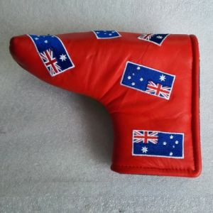Genuine Leather Golf Headcover with Country Flag Embroidery pictures & photos