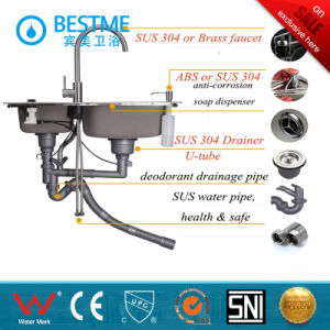 High Quality Double Sink Kitchen Sink Best Quality in China pictures & photos