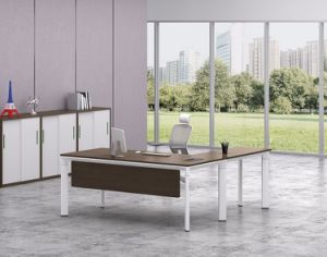 White Customized Metal Steel Office Executive Table Frame Ht93-2 pictures & photos