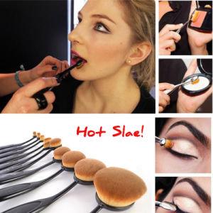 Wholesale Professional 10PCS Oval Toothbrush Brush Set Makeup Brushes Kit pictures & photos
