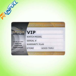 Plastic Cr80 Size Card with Signature Stripe for Loyalty Promotion pictures & photos