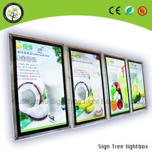 Magnetic Slim LED Crystal Light Box pictures & photos
