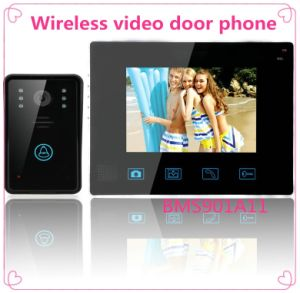 "9"" Wireless Door Phone Doorbell Intercom with Touch Key Camera pictures & photos"