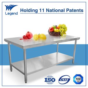 Stainless Steel Work Bench for Restaurant with National Patent pictures & photos