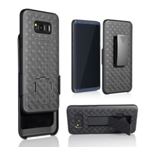 Weave Design Shockproof Case Cover for Samsung Galaxy On5/S8/S8 Plus Robot Holster Case pictures & photos