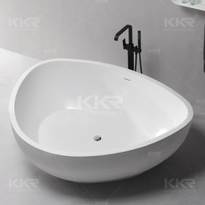 Custom Made Small Solid Surface Stone Resin Freestanding Bath Tub pictures & photos