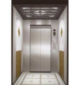 Passenger Lift with Etching Stainless Steel Car Cabin pictures & photos