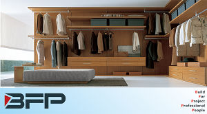 High Quality Bedroom Furniture Wooden Walk in Closet pictures & photos