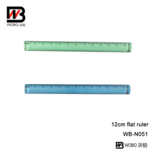 12cm Color PS Ruler for School Stationery Use