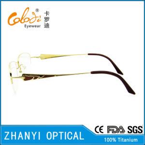 Latest Design Beta Titanium Eyeglass Eyewear Optical Glasses Frame for Woman (8333) pictures & photos