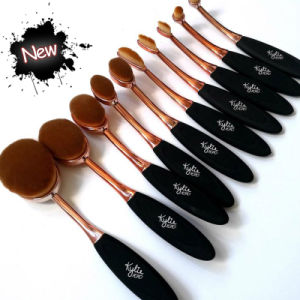 kylie Oval Makeup Brush Rose Gold Cosmetic 10 pieces Makeup Tools pictures & photos