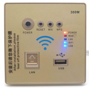 Wholesale Wall-in Panel WiFi Wireless Router with 300Mbps pictures & photos