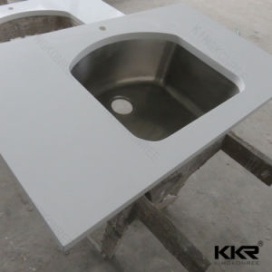 Kingkonree Artificial Quartz Stone Marble Bathroom Vanity Top pictures & photos