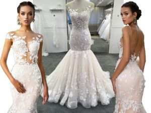 Custom Made High Quality Champagne/Ivory Wedding Dresses pictures & photos