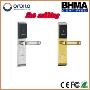 Modern Fashion Electronic Hotel Lock with LED RFID Card Access Control Door Lock pictures & photos