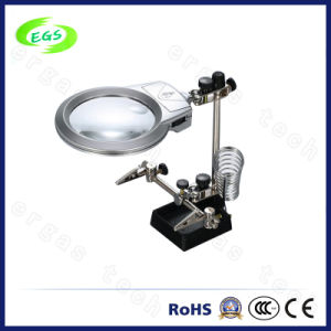 LED Light Desktop Magnifying Glass for Factory and Repair (EGS16132-A) pictures & photos