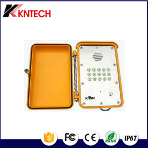 Heavy Duty Telephones with Stainless Steel Panel Handfree Knsp-13 Kntech pictures & photos