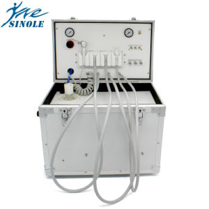 New Portable Dental Unit with Air Compressor Ultrasonic Scaler LED Curing Light