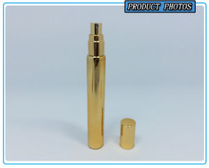 20ml Gold Glass Perfume Spray Pump Bottle pictures & photos