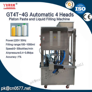 Gt4t-4G Automatic 4 Heads Piston Paste and Liquid Filling Machine pictures & photos