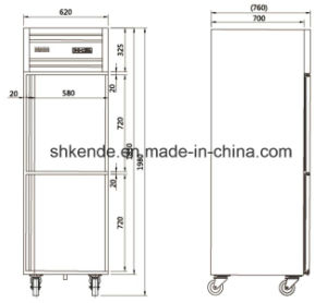 6 Doors Stainless Steel Commercial Kitchen Refrigerator pictures & photos