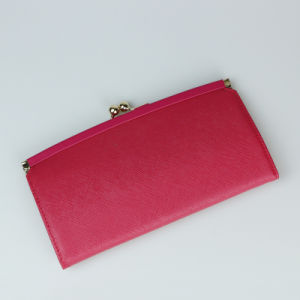 Lady Fashion Clutch Purse Genuine Leather Wallet pictures & photos