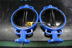 Rubber Lining Wafer Butterfly Valve (D7A1X-10/16) pictures & photos