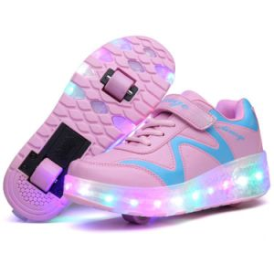 Two Wheel Skates Shoes, LED Casual Shoes, Adults Roller Shoes pictures & photos