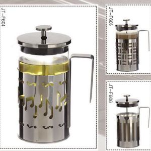 Heat Resisting Glass Coffeepot with Metal Stand pictures & photos