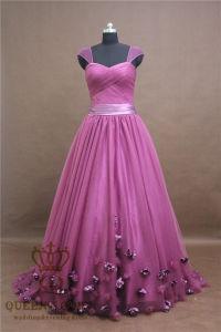 Customized Ladies Flower Bride Wedding Dress