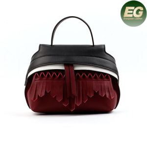 Real Leather Fashion Shoulder Bags Metal Rivet and Tassels Women Emg4873 pictures & photos