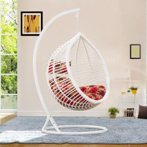 Popular Cheap Price Rattan Swing Chair Rattan Hanging Egg Chair D017A pictures & photos