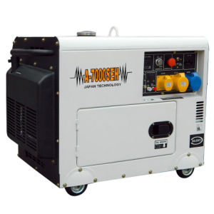 Small Portable Air-Cooled 5kw Silent Diesel Generator for Sale pictures & photos