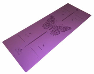 Professional Skid Proof PU Yoga Mat with Laser Engrave Pattern Antislip Wet and Dry pictures & photos