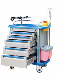 AG-Mt011A1 Double Ten Drawers Medication Carts pictures & photos