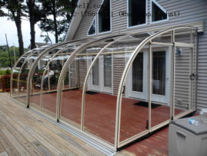 Custom Aluminum Stainless Steel Canopy Rainshed Balkon Awning Sunlight Room pictures & photos