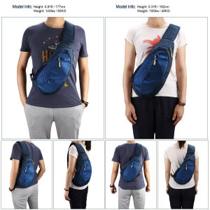 Fashion Triangle Rucksack for Walking Cycling Travelling Bags Chest Shoulder/Sling Bag Bagpack pictures & photos