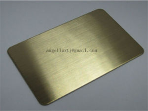 Decorative Material SUS304 No. 4 Matt Stainless Steel Sheets for Construction From Foshan pictures & photos