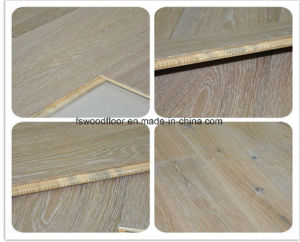 Wide Plank Engineered Limed French Oak Flooring pictures & photos