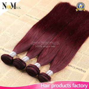 Different Types 99j Burgundy Chinese Peruvian Indian Malaysian Brazilian Crochet Virgin Hair pictures & photos