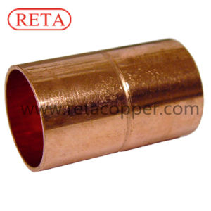 Straight Copper Coupling with Stop ASME B16.22 pictures & photos