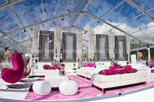 Romantic and Luxury Clear Roof Cover Wedding Marquee in 15m Width